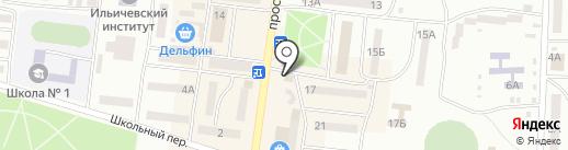 Хата на карте Ильичёвска