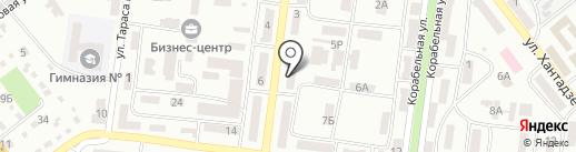 Нотариус Прутянова Л.В. на карте Ильичёвска
