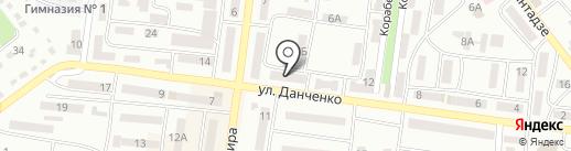 Лиман на карте Ильичёвска