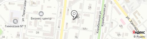 Фрегат на карте Ильичёвска