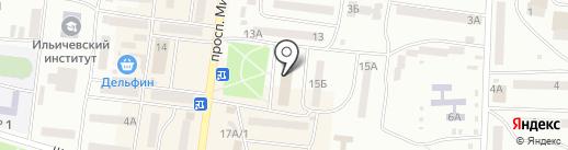 Юна-Интерсервис на карте Ильичёвска