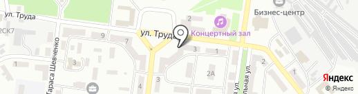 Боэллен на карте Ильичёвска