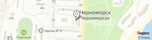 Городская детская библиотека на карте Ильичёвска