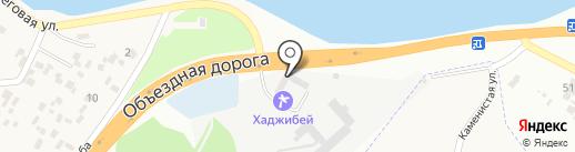 Хаджибей на карте Усатово
