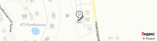 Красная Стрела на карте Всеволожска