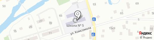 Средняя общеобразовательная школа №5 на карте Всеволожска
