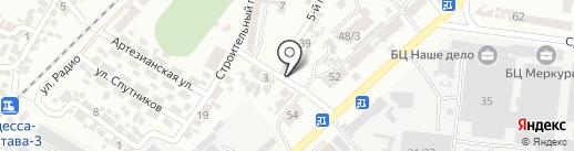 Сеть автомоек на карте Одессы