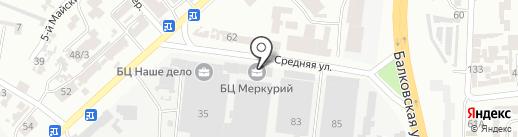 Еврохауз на карте Одессы