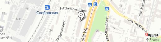 Суши Wok на карте Одессы