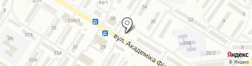 Вацак на карте Одессы