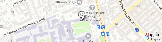 Одесский национальный морской университет на карте Одессы