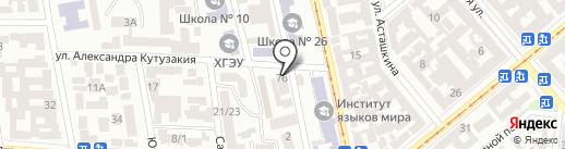 Триштекс на карте Одессы