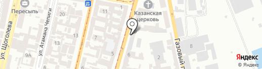 Столовая №8 на карте Одессы