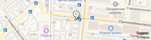 Ватрушка на карте Одессы
