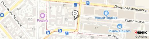 Копійка на карте Одессы