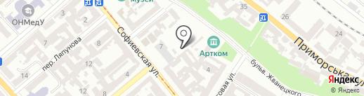 Центр на карте Одессы