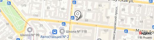 Пан Кабан на карте Одессы