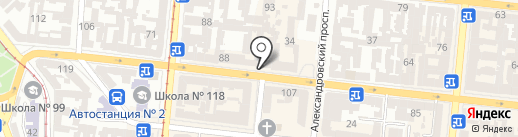 Выход на карте Одессы