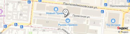 Владівське подвір`я на карте Одессы