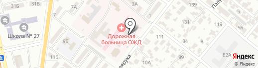 Одесская железная дорога, ГП на карте Одессы
