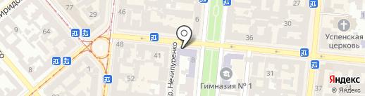 Коминтерновская Федерация Хортинга на карте Одессы