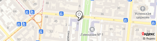 Downtown Coffee Bar на карте Одессы