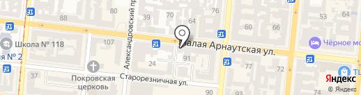 Здоровые ножки на карте Одессы