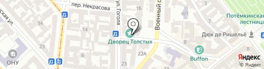 Летний садъ на карте Одессы