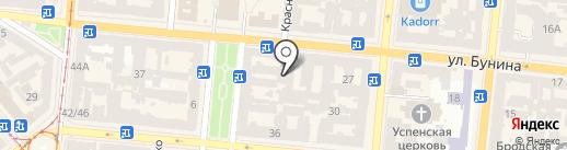 Коммерц-инвест на карте Одессы