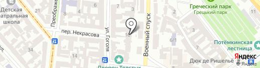 Редут на карте Одессы