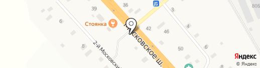 Киоск по продаже хлебобулочных изделий на карте Ульяновки