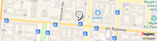 75B на карте Одессы