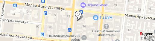 Приват Клиника на карте Одессы