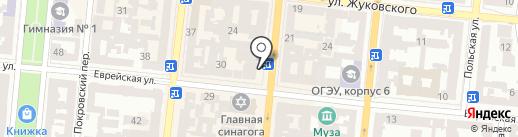 Национальный университет Одесская юридическая академия на карте Одессы