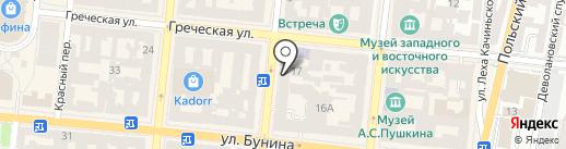 Мао на карте Одессы