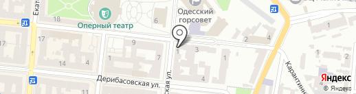 Ланжерон Групп на карте Одессы