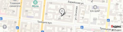 Вояжер на карте Одессы