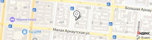 Гамаюн на карте Одессы