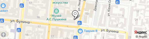 Центр оказания социальной и гуманитарной помощи гражданам, беженцам из оккупированных территорий Украины и переселенцам из зоны проведения антитеррористической операции на карте Одессы