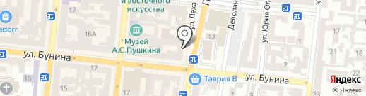 Лавр на карте Одессы