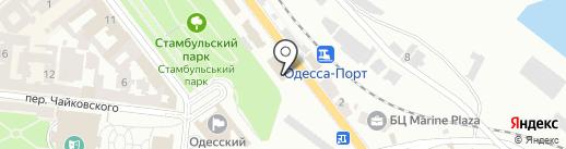 Человек из тени на карте Одессы