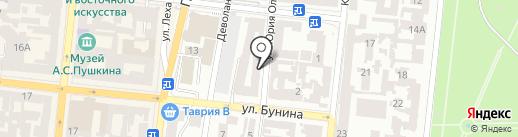 Чемодан на карте Одессы