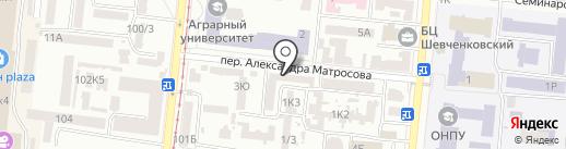 Силуэт на карте Одессы