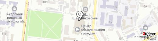 Паспортний сервіс на карте Одессы