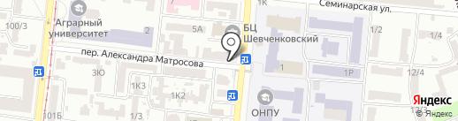 Перекресток на карте Одессы
