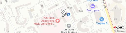 Поликлиника на карте Одессы