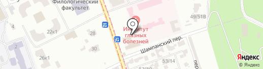 Векка на карте Одессы