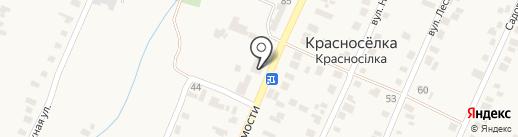 Радуга на карте Красносёлки