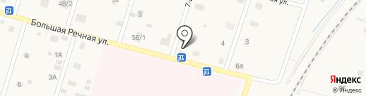 Магазин продуктов на карте Ульяновки
