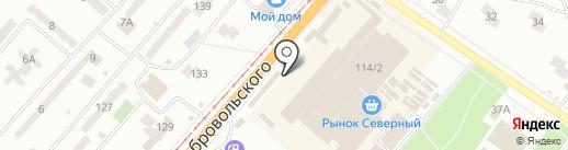 Стекольная лавка на карте Одессы